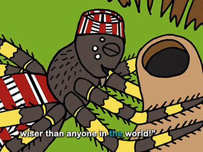 Anansi Tries to Steal All the Wisdom of the World