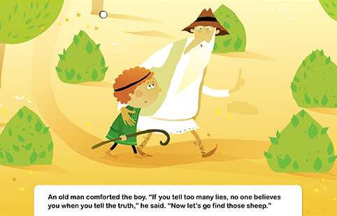 The Boy Who Cried Wolf Interactive Story Speakaboos