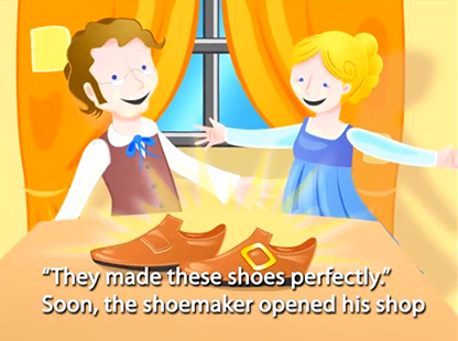 The elves and the shoemaker interactive story speakaboos