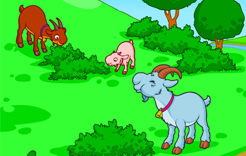 Three Billy Goats Gruff Interactive Story | Speakaboos