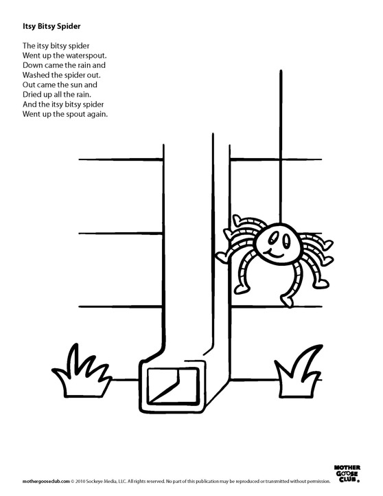 itsy bitsy spider coloring pages - photo#8