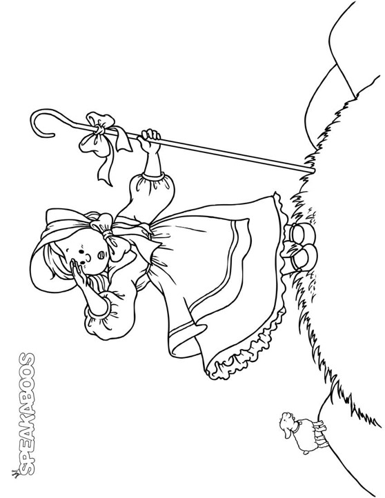 Coloring Pages: Little Bo Peep | Speakaboos Worksheets