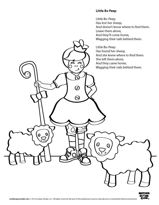 Coloring pages little bo peep live speakaboos worksheets for Little bo peep coloring pages