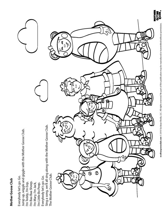 mother goose coloring pages - coloring pages mother goose club speakaboos worksheets