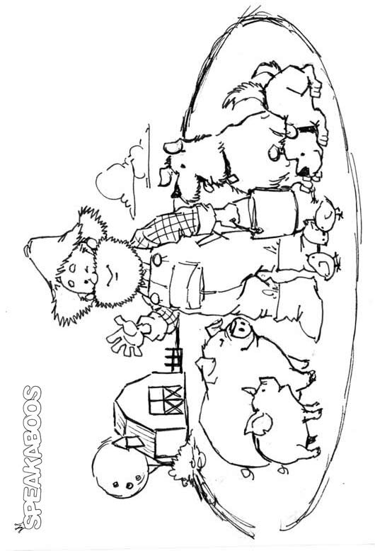 coloring pages old macdonald song - photo#6