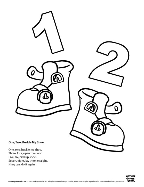 Simplicity image with one two buckle my shoe printable