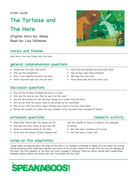The Hare And The Tortoise Worksheet Fresh Air Purifiers Com
