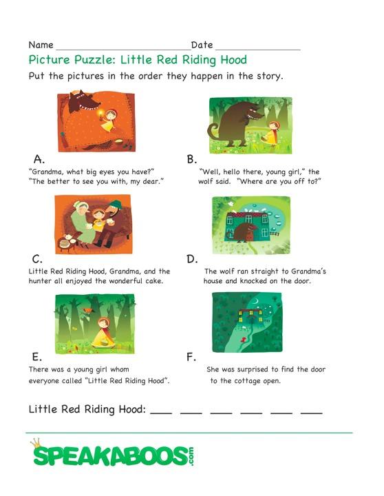 Fairy Tale Preschool Activities moreover Holes Louis Sachar Worksheets ...