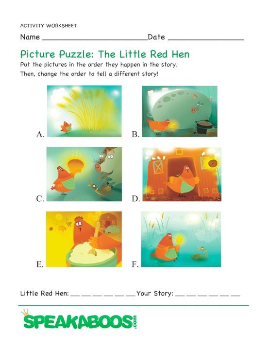 gif little red hen wordsearch worksheet secret message little red hen ...