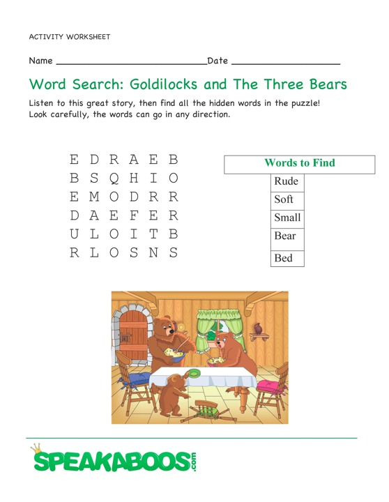 Word Search: Goldilock...